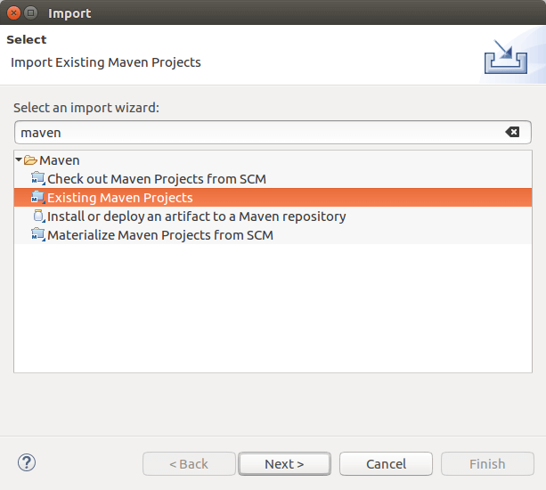 Maven Project Import